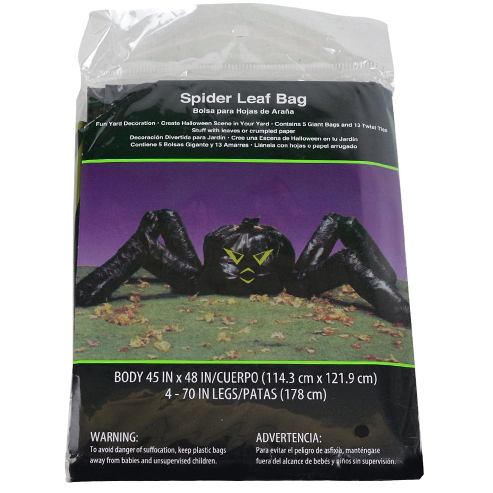 Spider Leaf Bag Decoration