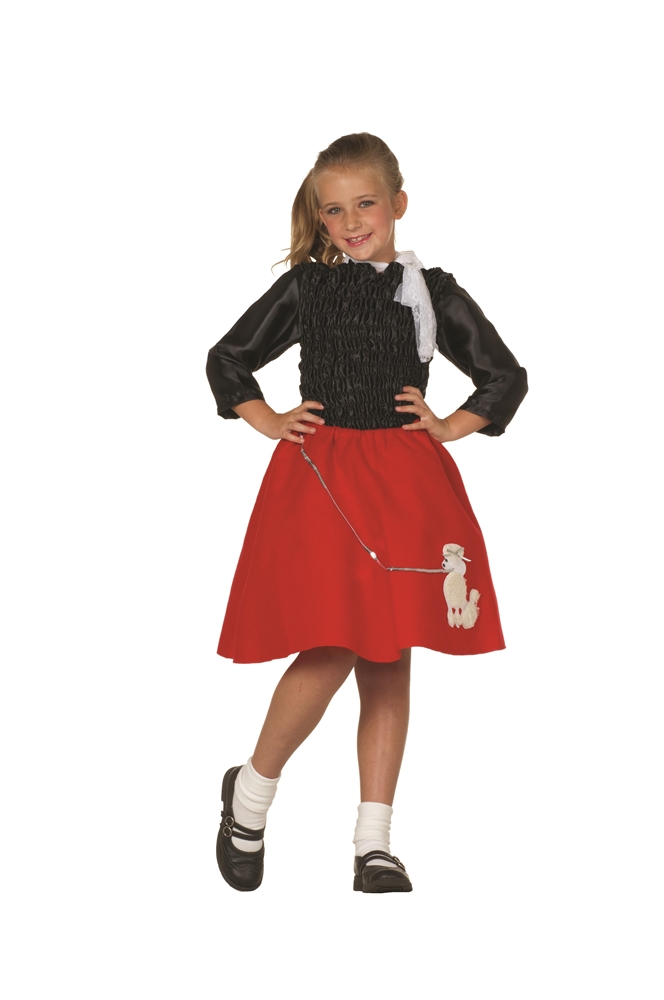 Red Poodle Skirt Child Costume (Red Poodle)