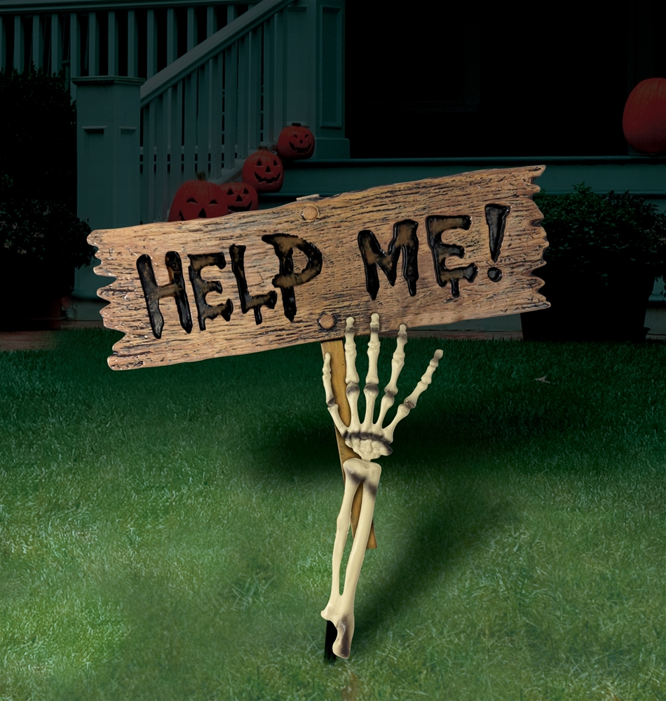 Skeleton Arm Lawn Stake