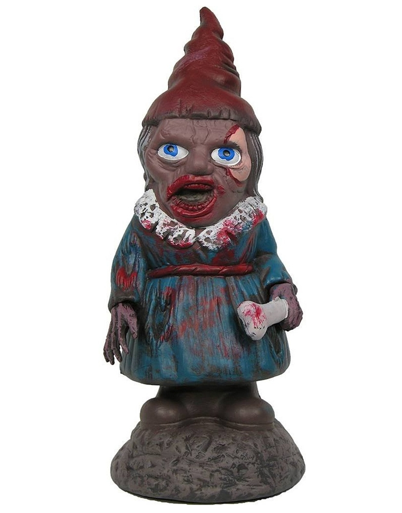 Zombiefied Female Garden Gnome Prop