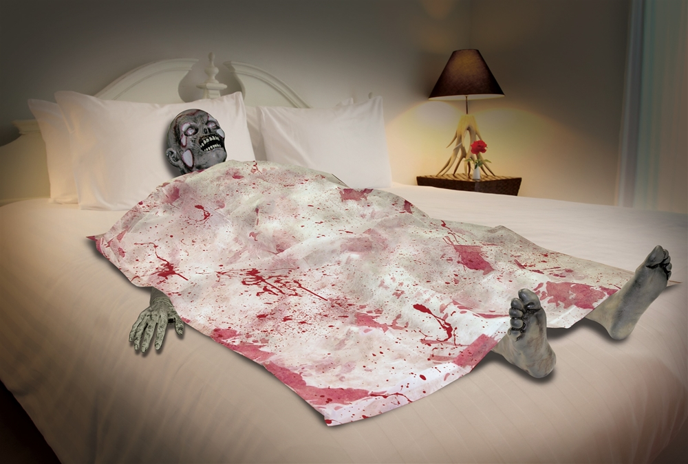 Bloody Death Bed Zombie Prop
