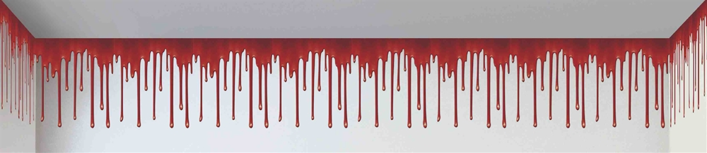 Haunted House Dripping Blood Roll 20ft