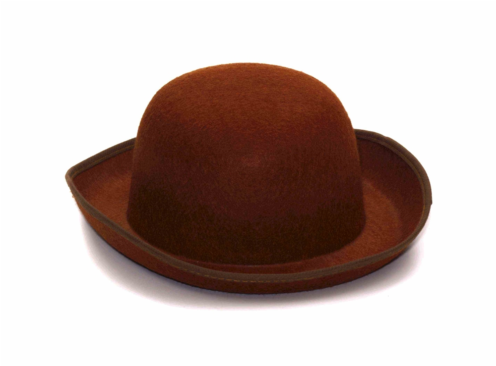 Steampunk Brown Felt Derby