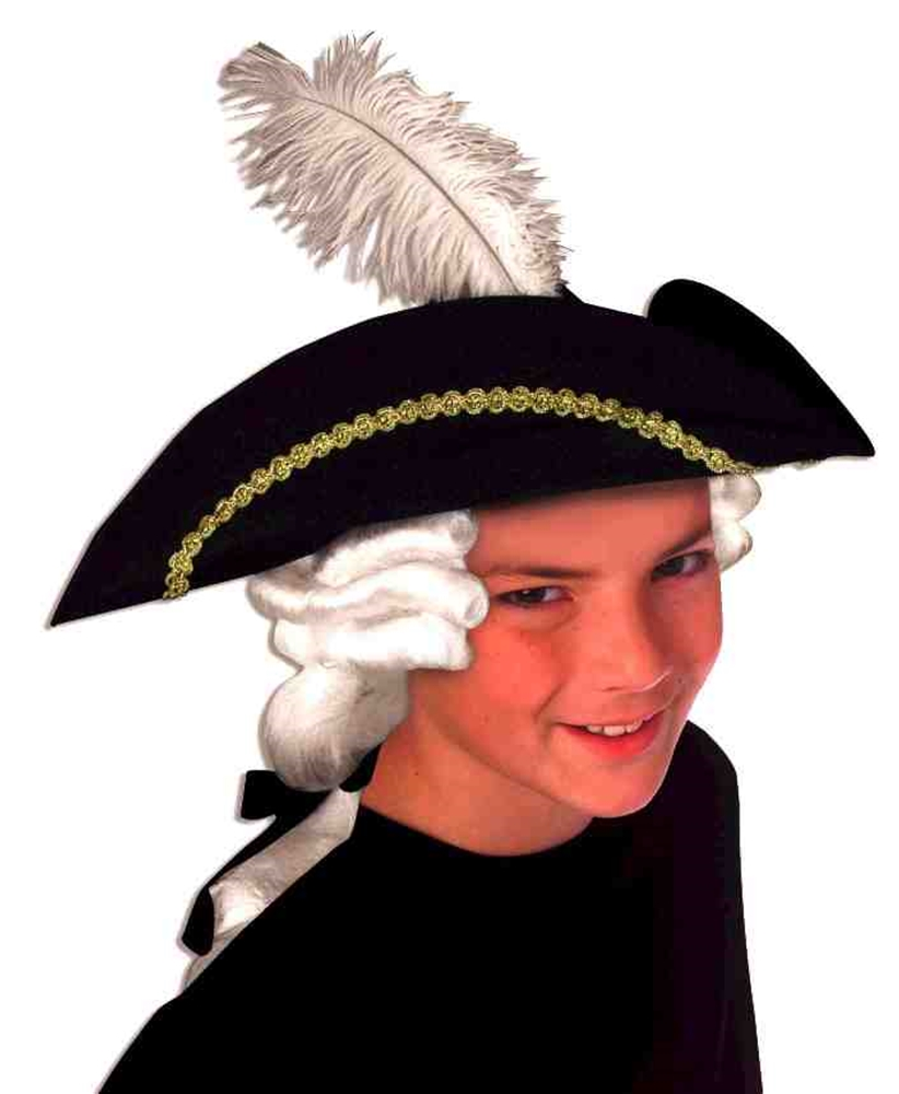 Colonial Child Hat with Wig