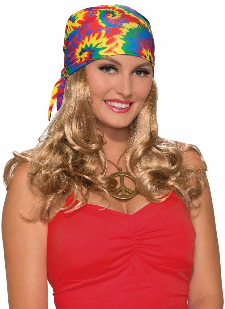 Hippie Head Scarf with Blonde Wig by Forum Novelties