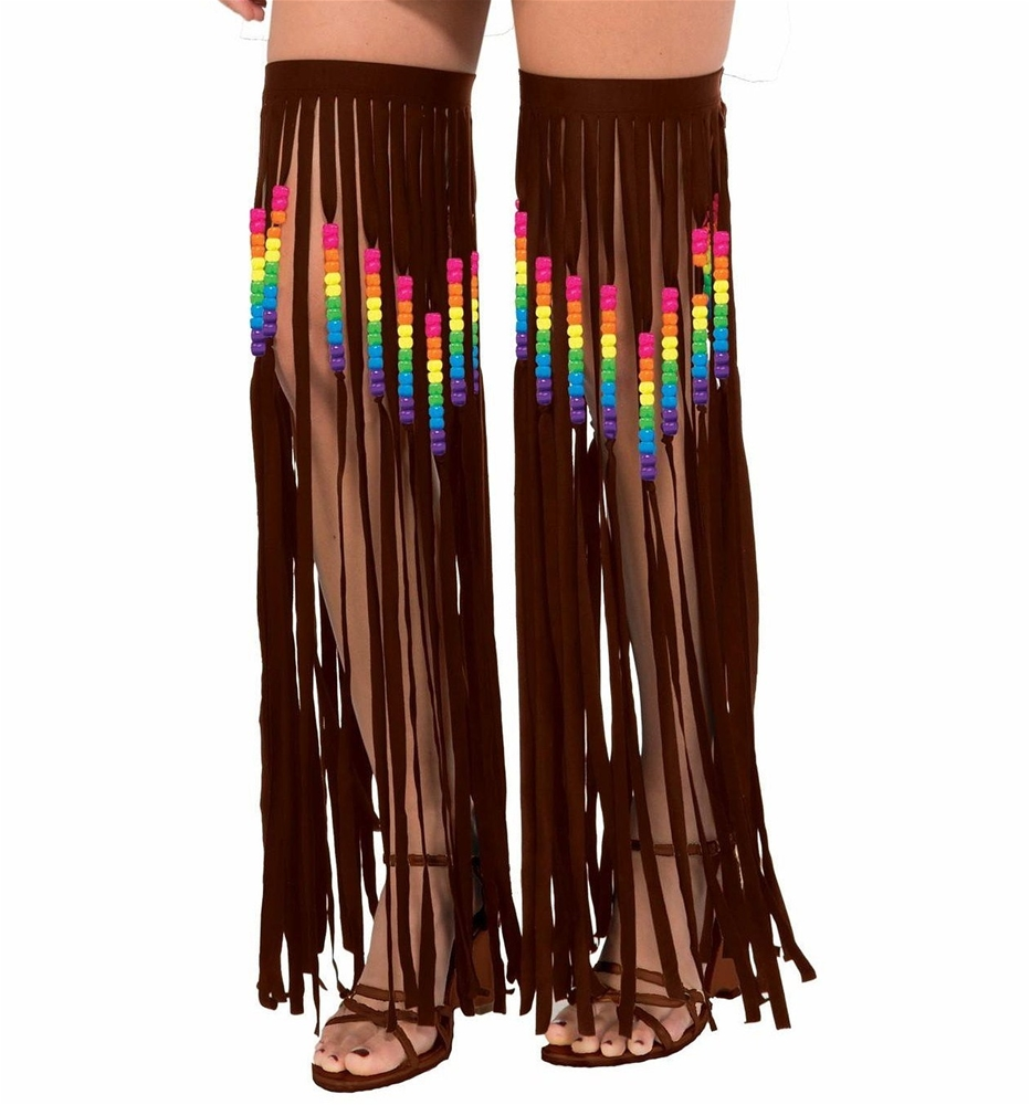 Hippie Beaded Fringe Garters