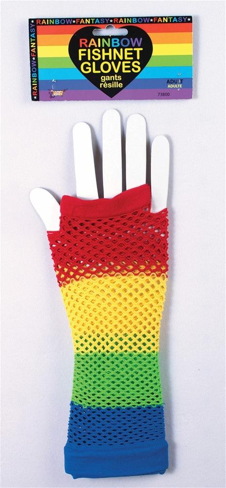 [Rainbow Fishnet Gloves] (Fishnet Gloves)