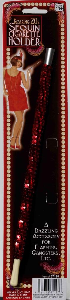 Red Sequin Cigarette Holder