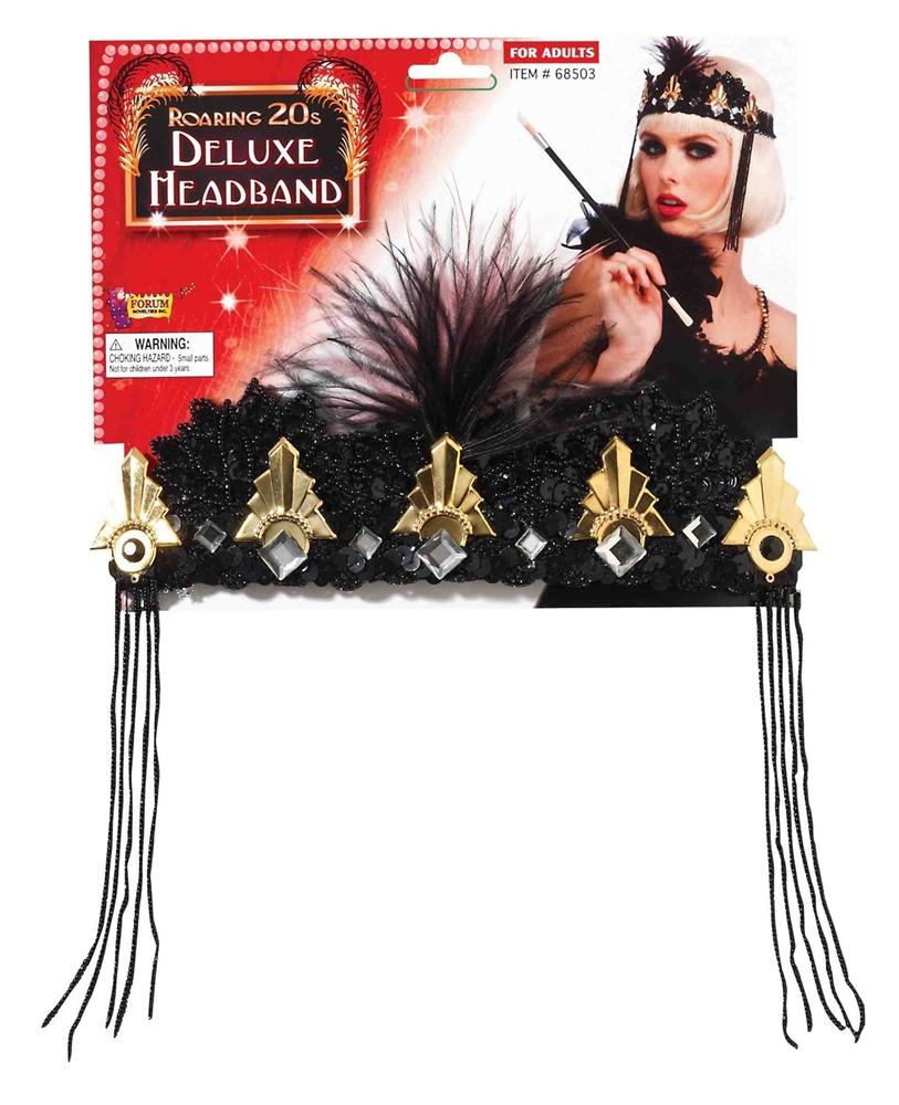 Flapper Black & Gold Crown Headband by Forum Novelties
