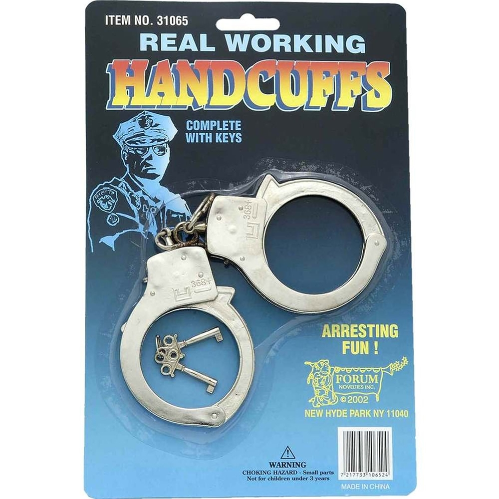 Police Officer Metal Handcuffs