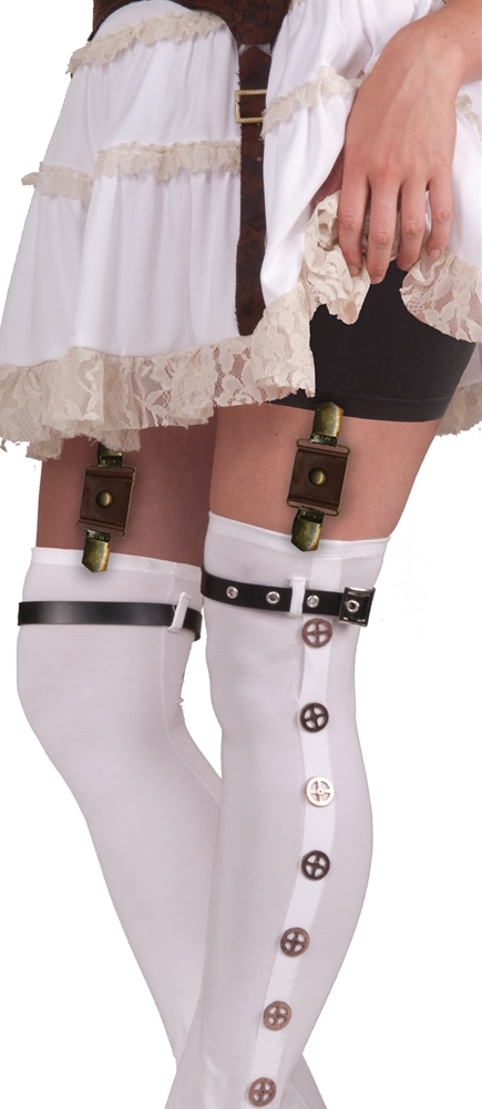 Steampunk Brown Garter Buckles
