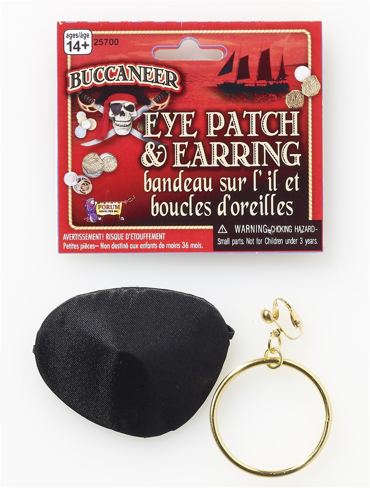 Pirate Earring & Eyepatch Set