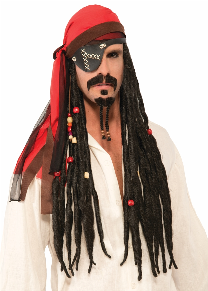 Pirate Headscarf with Dreads Wig by Forum Novelties