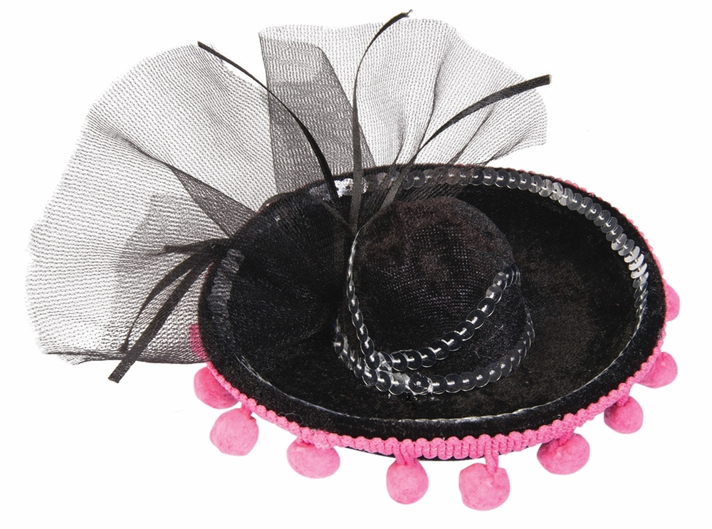 Day of the Dead Mini Sombrero