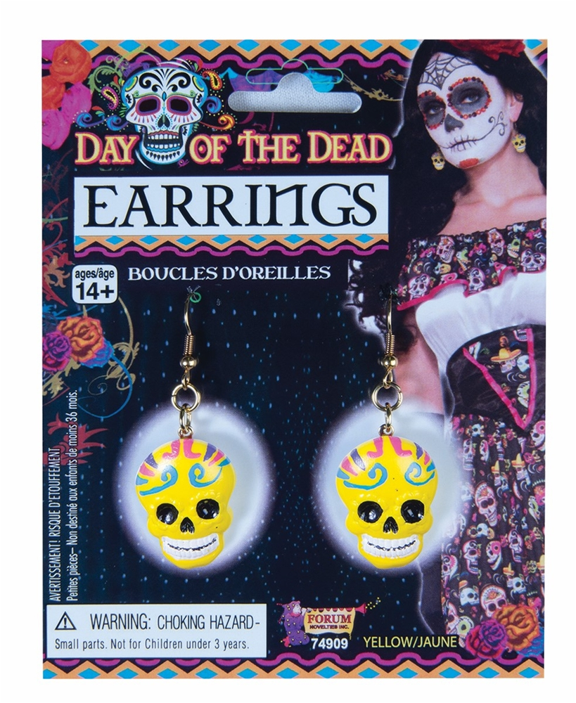 Day of the Dead Skull Earrings (More Colors)