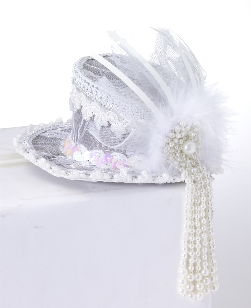 Mini Ghost Lace Top Hat