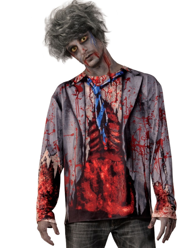 Gory Zombie Adult Mens Shirt