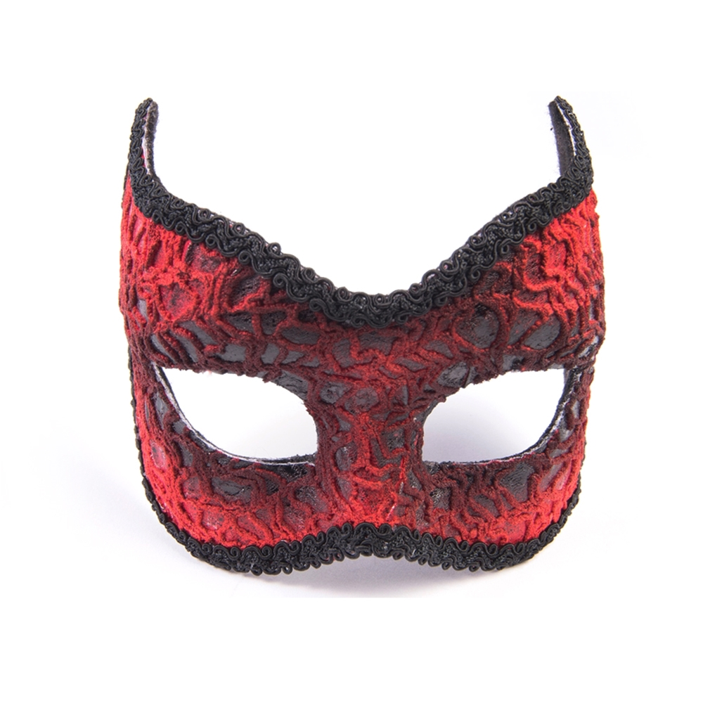 Red Devil Lace Mask