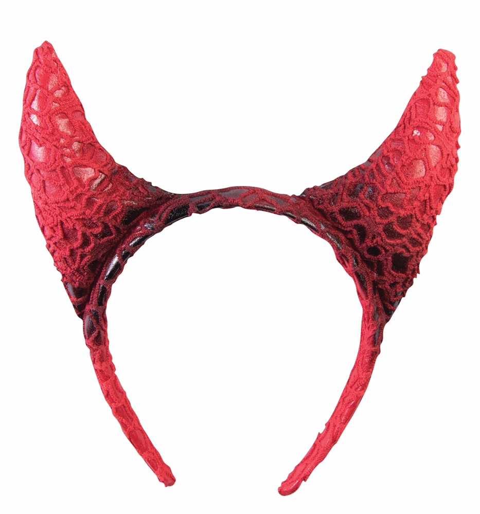 Red Devil Horn Headband