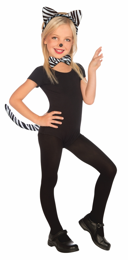 Plush Zebra Child Costume Kit