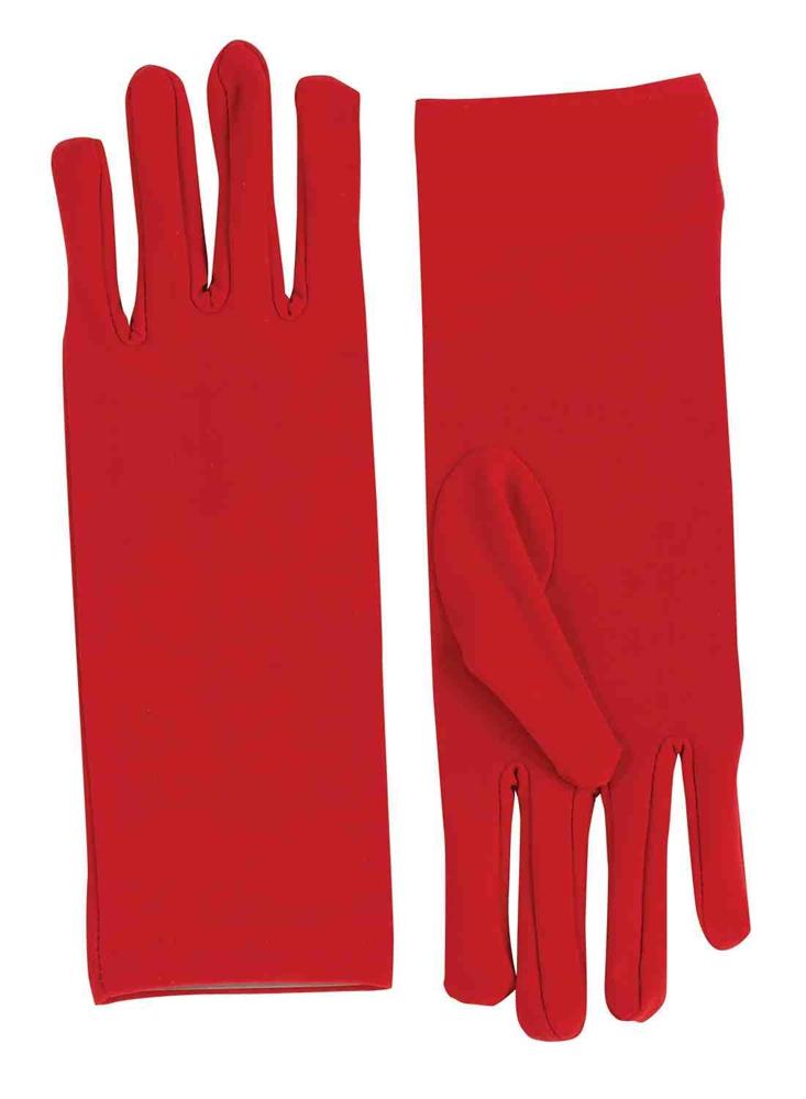Short Red Dress Gloves