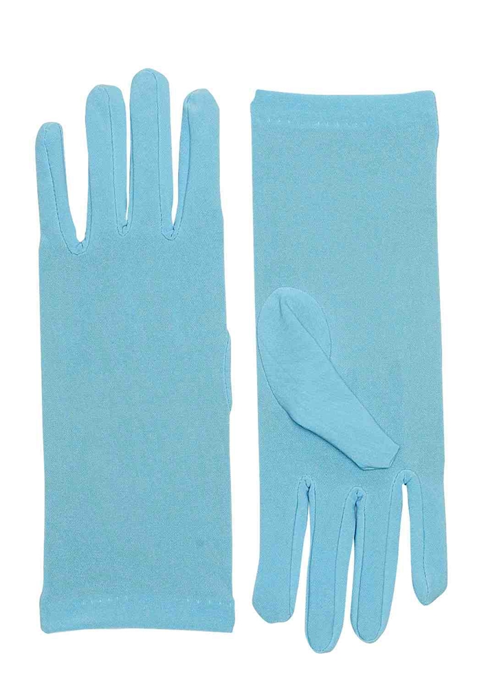 Short Light Blue Dress Gloves by Forum Novelties