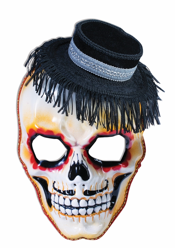 Day of the Dead Skull with Hat Mask
