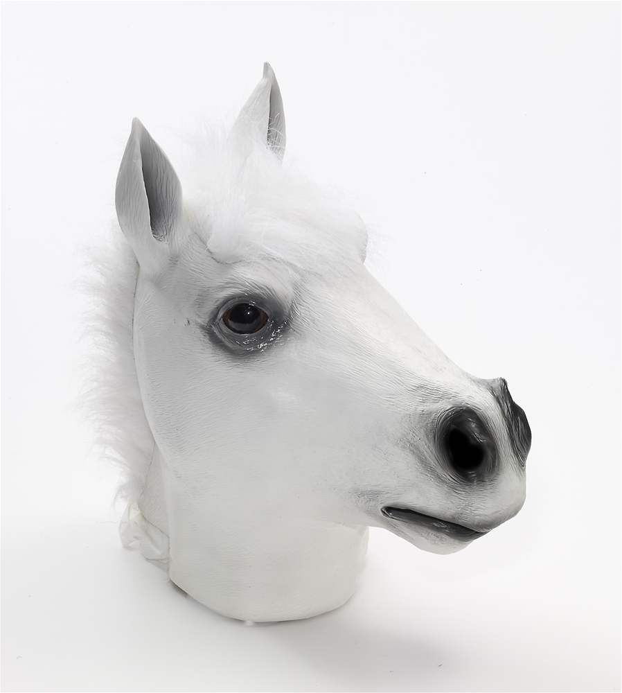 White Horse Deluxe Latex Mask