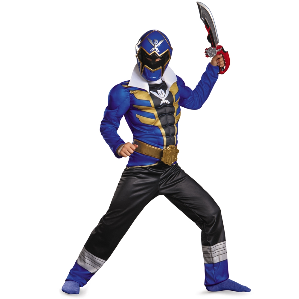 Power Rangers Super Megaforce Blue Ranger Muscle Child Costume by West Coast Closeouts
