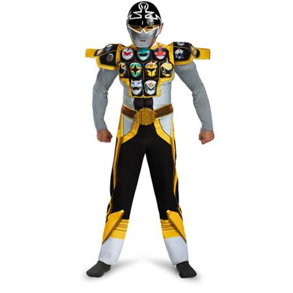 Power Rangers Super Megaforce Silver Ranger Muscle Child Costume by West Coast Closeouts