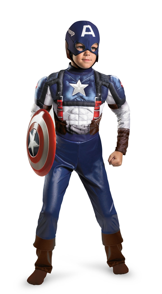 Avengers Captain America Retro Muscle Child Costume