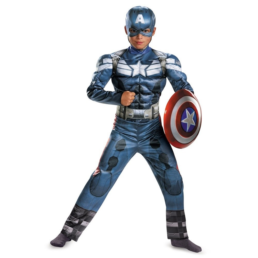 Avengers Captain America Stealth Muscle Chest Child Costume by West Coast Closeouts