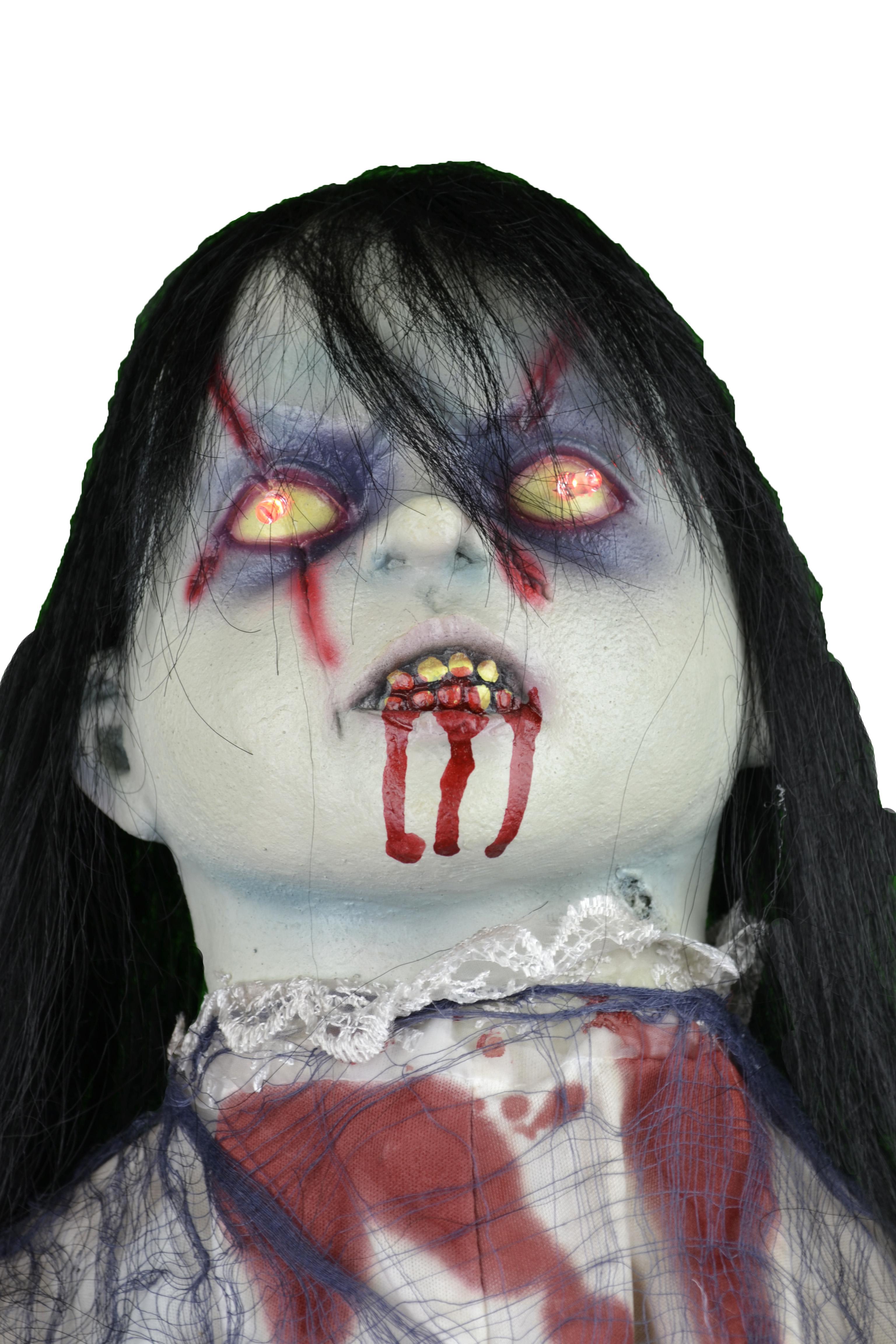 Walking Zombie Girl Animated Prop 350240