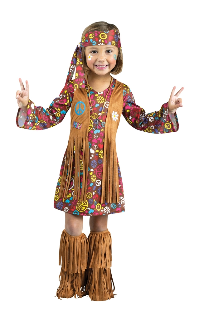 Peace & Love Hippie Toddler Costume