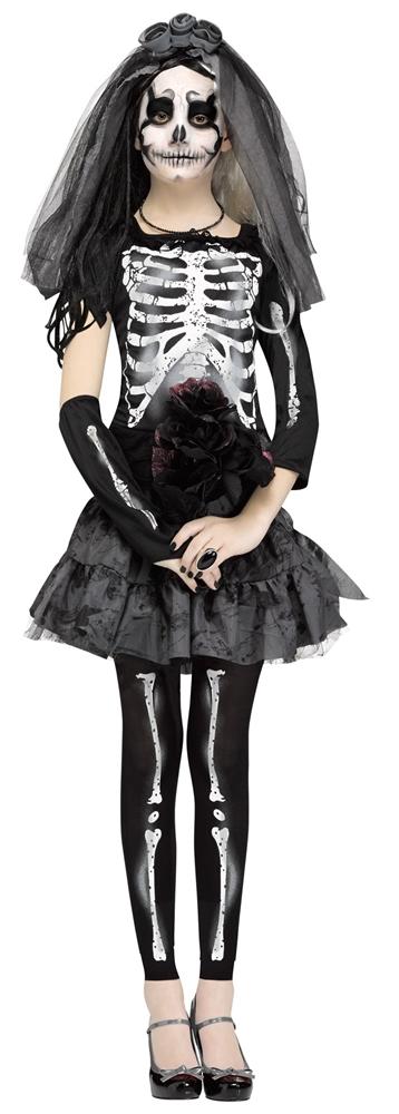Dark Skeleton Bride Juniors Costume