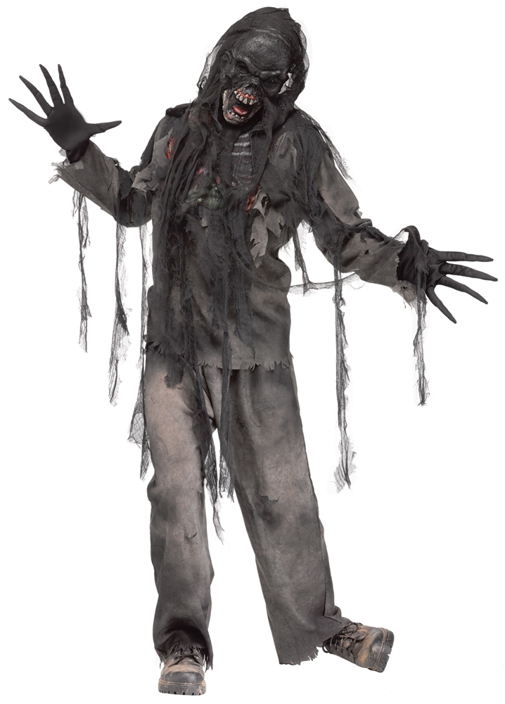 Burning Dead Zombie Adult Mens Costume