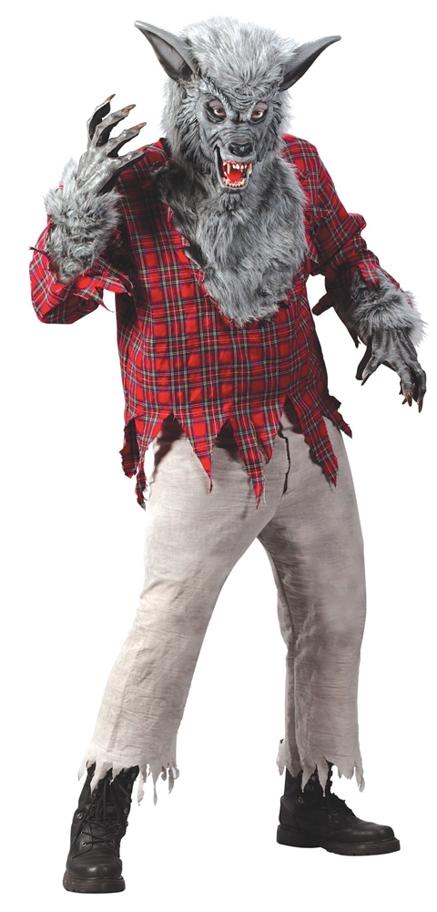 Silver Werewolf Adult Mens Costume