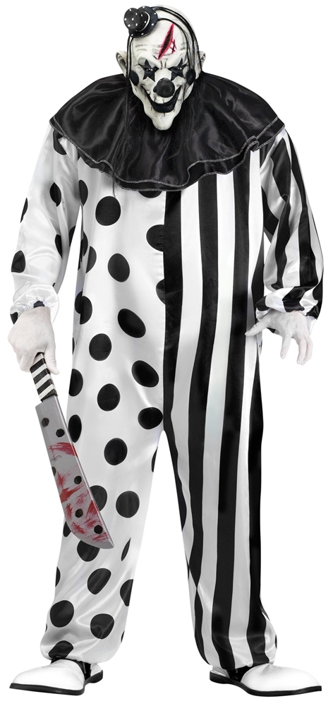 Killer Clown Adult Mens Plus Size Costume by Fun World