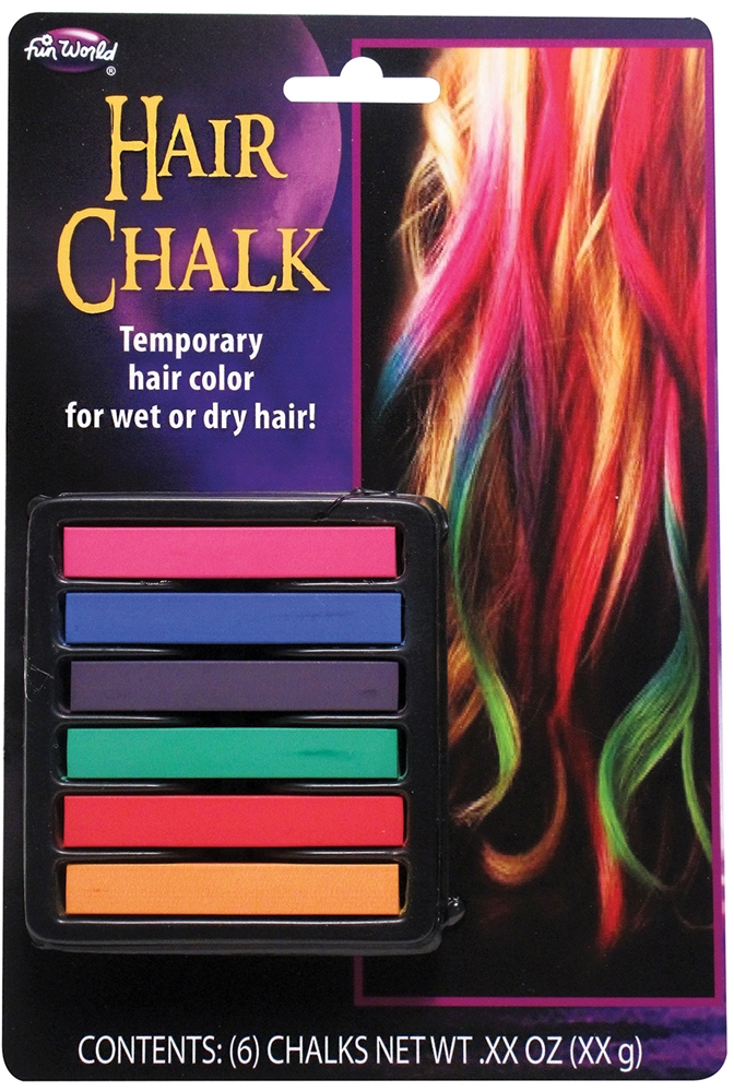 Multicolor Hair Chalk 6pc