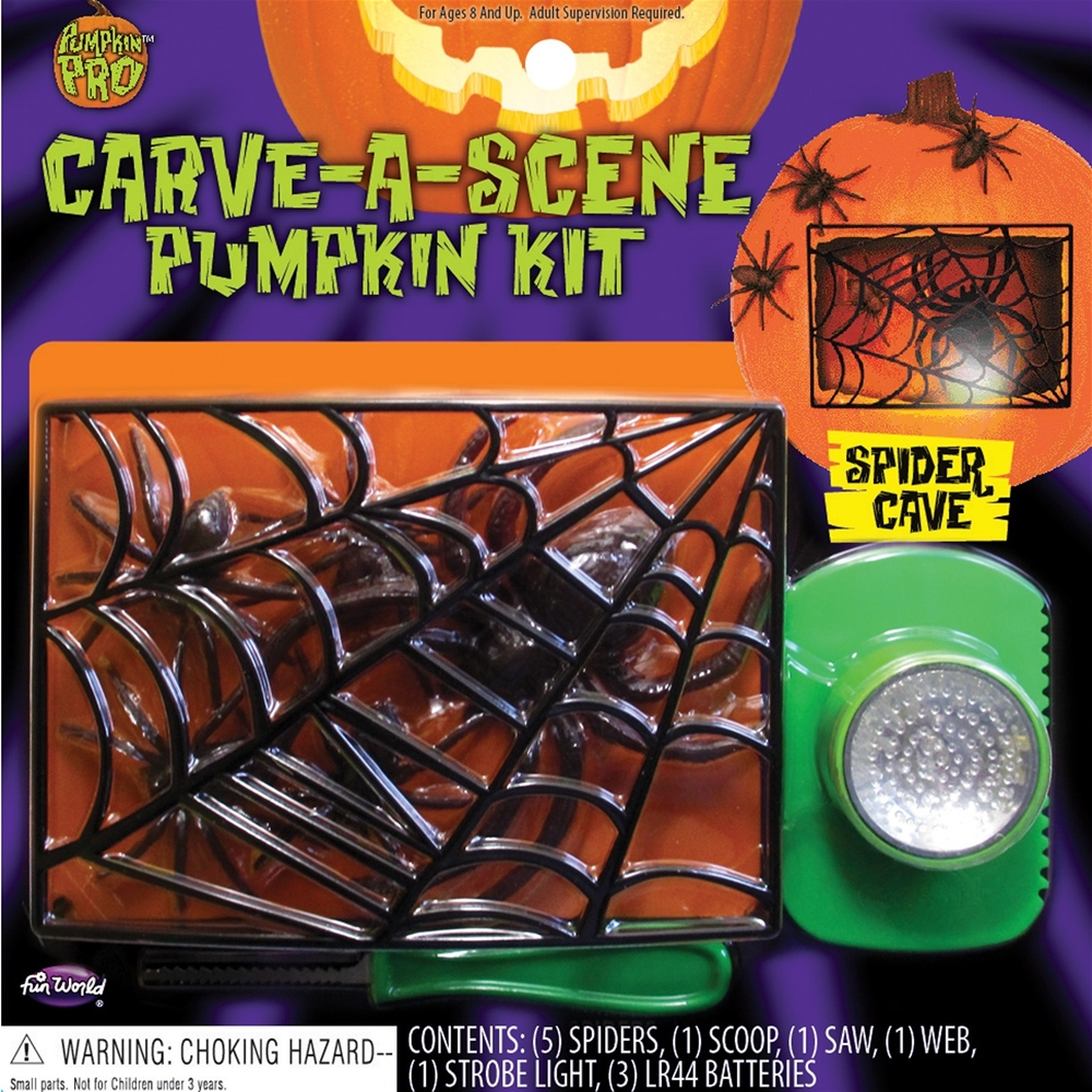 Carve a scene pumpkin decorating kit more styles