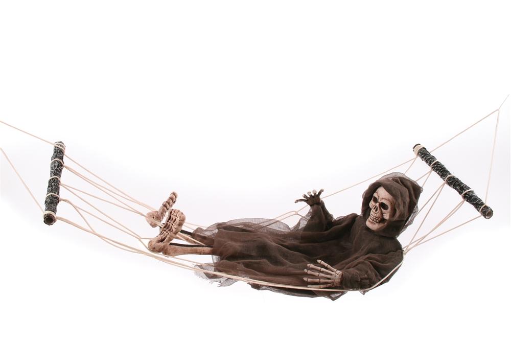 Posable Lazy Bones Reaper Prop with Hammock