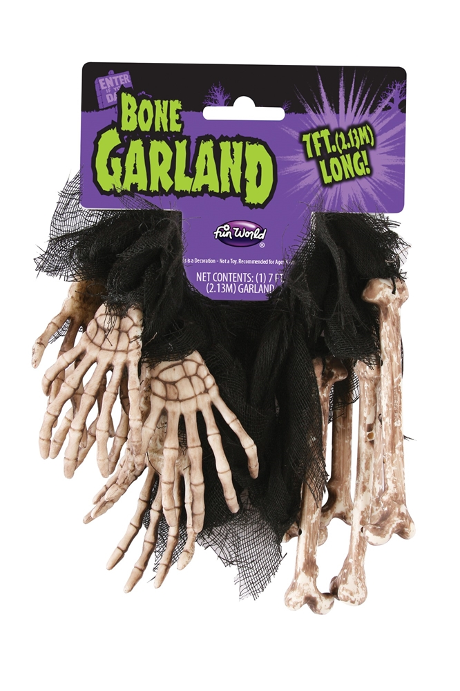Skeleton Bone Garland 7ft (More Colors) by Fun World