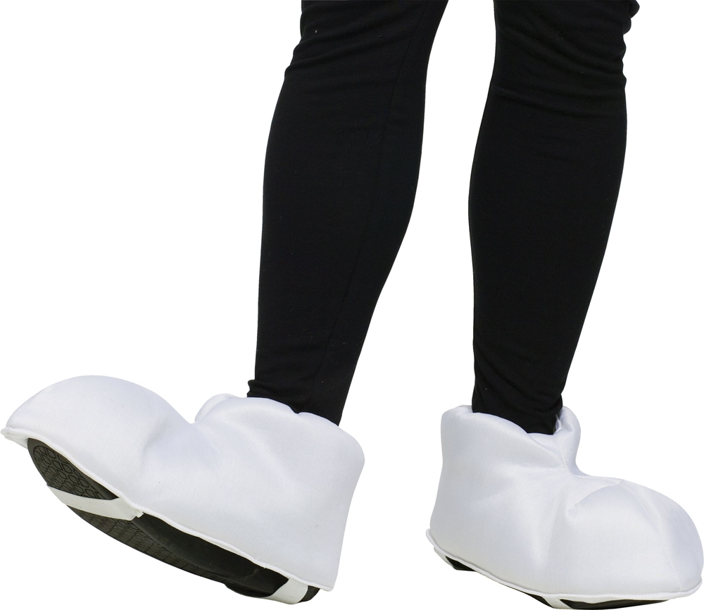 White Cartoon Feet Shoe Covers