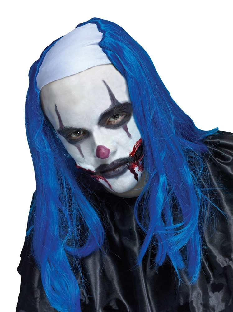 Blue Creepy Clown Wig
