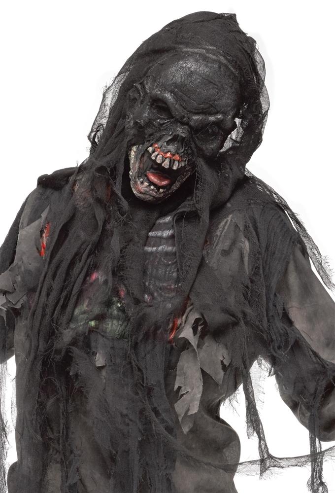 Burnt Zombie Mask with Shroud