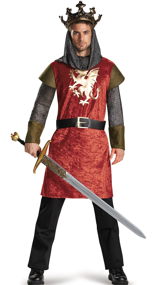 [Classic Medieval King Adult Mens Plus Size Costume] (Medieval Mens Costumes)