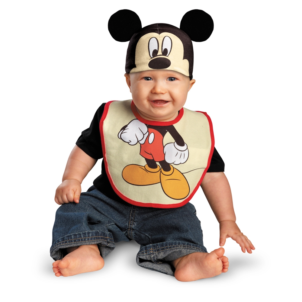 Mickey Mouse Bib & Hat Set