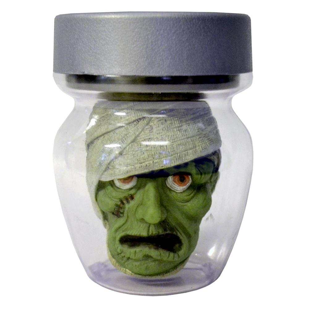 Animated Mummy Head in a Jar Prop