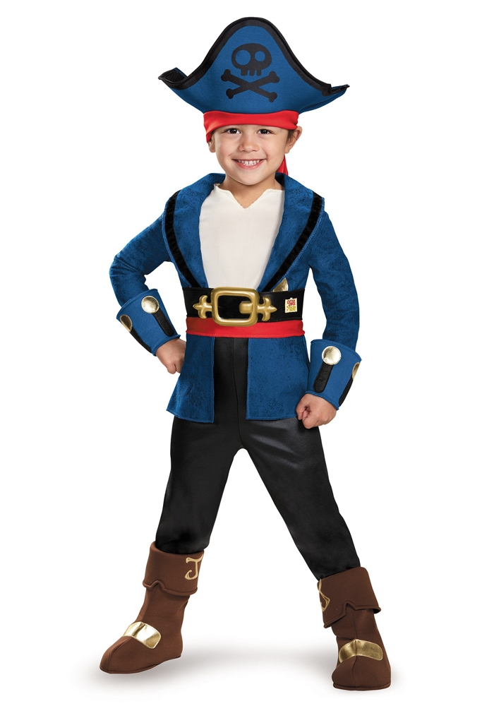 Captain Jake Deluxe Toddler Costume (Jake Toddler Costume)