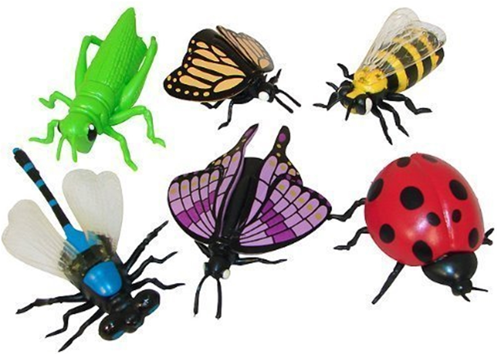Vinyl Insect Finger Puppets 6ct